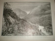 By Rail to Klondike Skagway Valley from Dead Horse Trail 1899 old print Canada