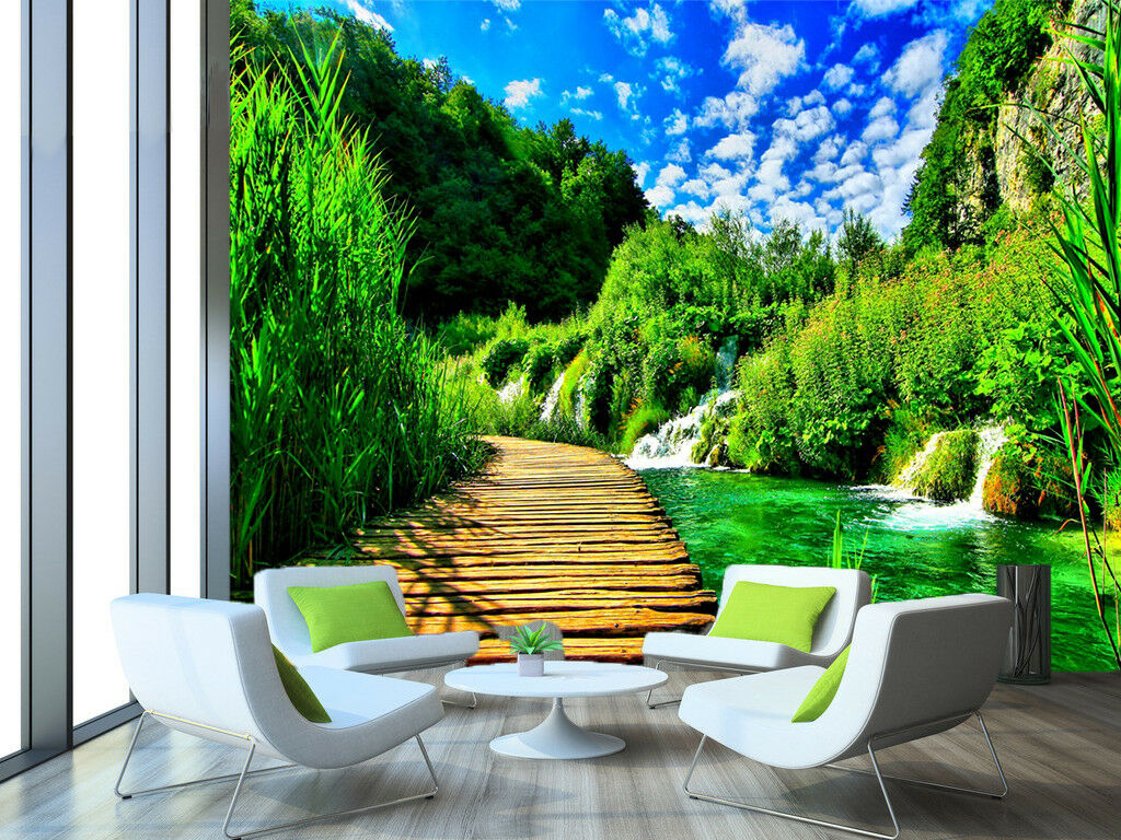 3D Green Nature  86 Wall Paper Murals Wall Print Wall Wallpaper Mural AU Summer