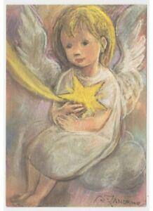 Card-Christmas-Angel-Child-Stella-Comet-Zandrino-Greeting-Cards-Years-60