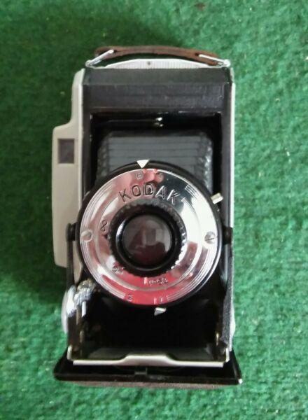 Appareil Photo Ancien à Soufflet Kodak A Modèle 11 Avec Sa Notice Et Sa Sacoche Couleurs Fantaisie