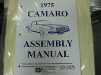 1975 Camaro (all Models) Assembly Manual