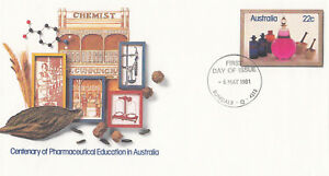 (13857) Australie Entiers Postaux Fdc Pharmaceutivcal Education 6 Mai 1981-l Education 6 May 1981fr-fr Afficher Le Titre D'origine Sensation Confortable