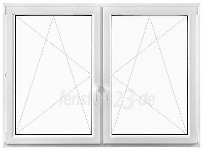 Heimwerker Baustoffe & Bauelemente 2-flügeliges Kunststofffenster Breite 1500mm Alle Höhen Zum Dreh &kippen Pfosten