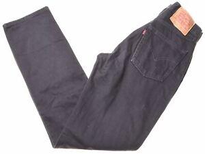 Levi-039-s-Homme-595-Jeans-W31-L34-en-coton-noir-slim-CT03