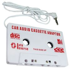 CAR AUDIO TAPE CASSETTE ADAPTER IPHONE IPOD SAMSUNG MP3 CD RADIO 3.5mm JACK AUX