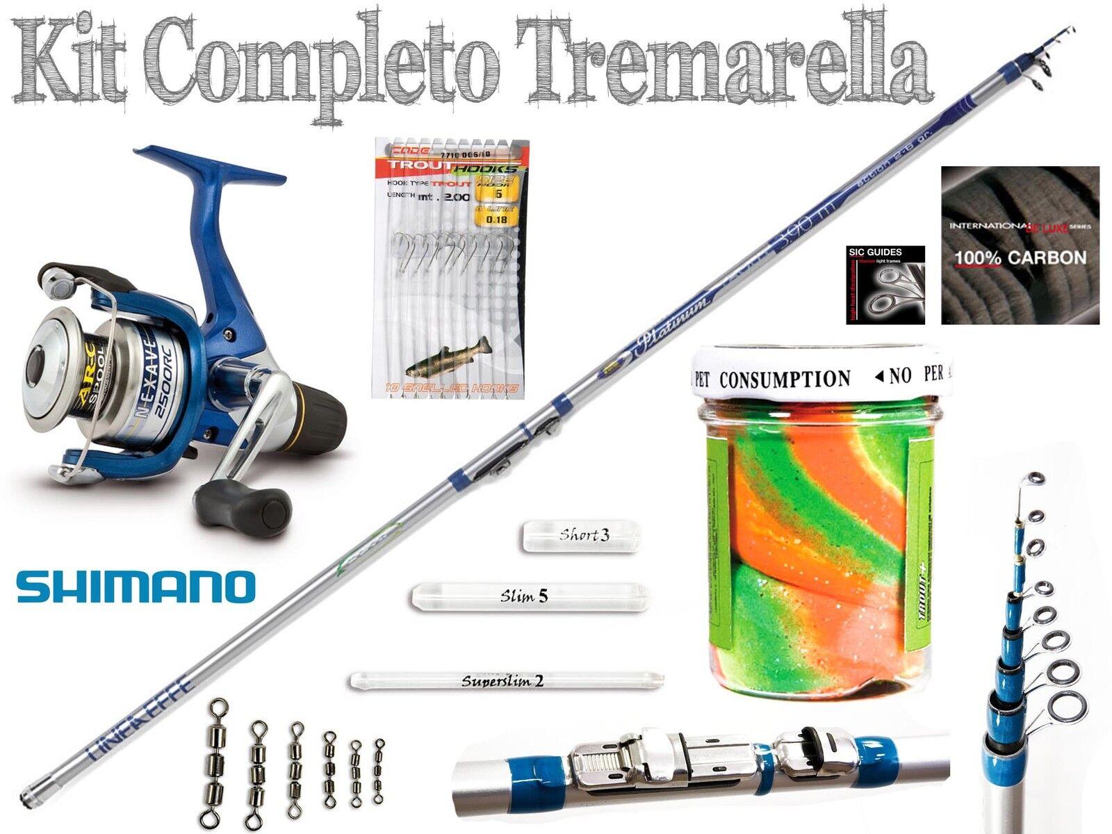 Kit Tremarella  Canna Mulinello e accessori combo pesca trossoa lago fiume PB2265