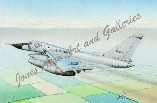 """B-58A Hustler /""""SAC/'s Hustler/"""" Giclee /& Iris Art Prints by artist Willie Jones Jr"""