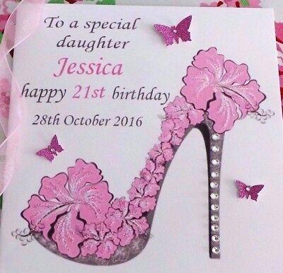 Handmade Personalised Birthday Card 18th 21st 40th Daughter Sister Friend Etc Ebay