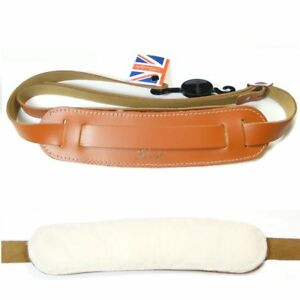 Klondyke-039-50s-style-Leather-strap-with-sheepskin-backing-pad-Tan-5014