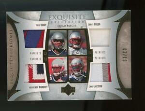 2006-Exquisite-Maroney-Jackson-Dillon-Tom-Brady-03-15-Game-Used-Patch-Jersey