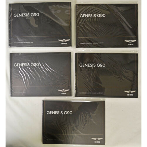 New 2017 2018 Genesis G90 Navigation System Owners Manual Complete Set 5 Books
