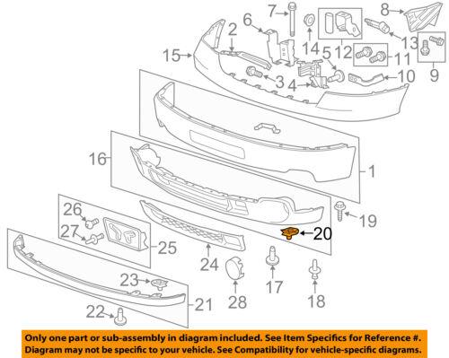 GM OEM Front Bumper-Outer Filler U-nut 11515638