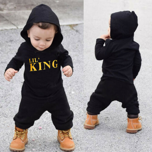 Toddler Kids Baby Boy Letter Hoodie T Shirt Tops+Camo Pant Outfit Clothes Set US