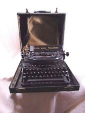 Vintage Underwood Noiseless 77 Portable Typewriter/Hard Case 1930's-Working!