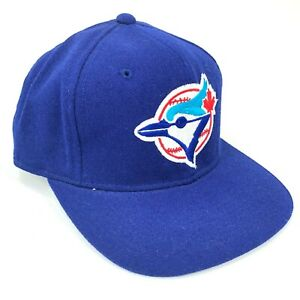 Vintage-Toronto-Azul-Jays-Sports-Specialties-100-Lana-Fitted-Gorra-Rojo-Blanco