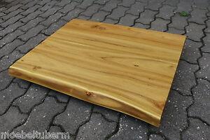 Waschtisch Tischplatte Platte Akazie Massiv Holz Mit Baumkante Neu