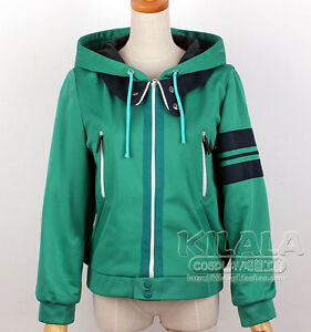 Tokyo Ghoul Kaneki Ken Green Hoodie Top Jacket Outfit Cosplay Costumes Any Size | eBay