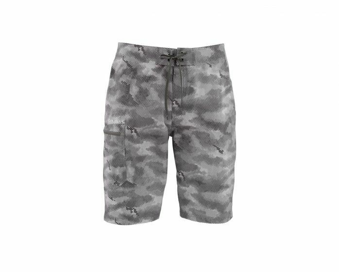 Simms Surf Short Prints-Hex  Camo Sterlin - Size 32  Waist - Closeout  save on clearance