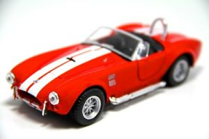 Brand-New-5-034-Kinsmart-1965-Shelby-Cobra-427-S-C-Diecast-Model-Toy-Car-1-32-Red