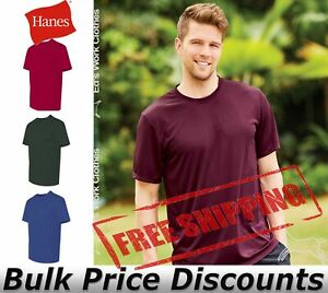 Hanes-Cool-Dri-Mens-Blank-Performance-Short-Sleeve-T-Shirt-4820-up-to-3XL