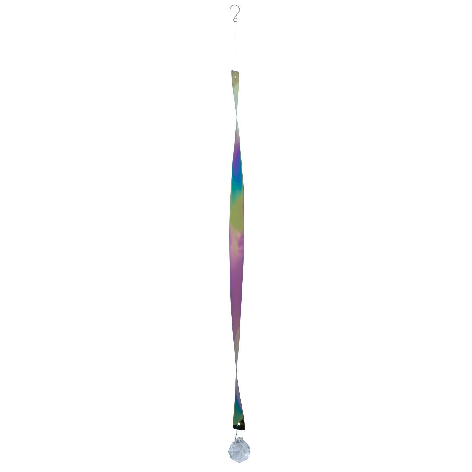 Nature's Melody Garden Hanging Wind Spinner Rainbow Helix Twister Decoration