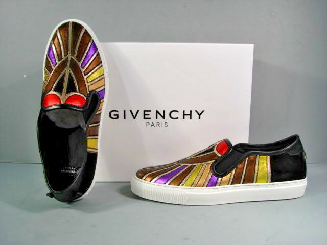 cheaper new authentic fashion GIVENCHY 40 Avian Metallic Leather Slip On Street Line Skate ...
