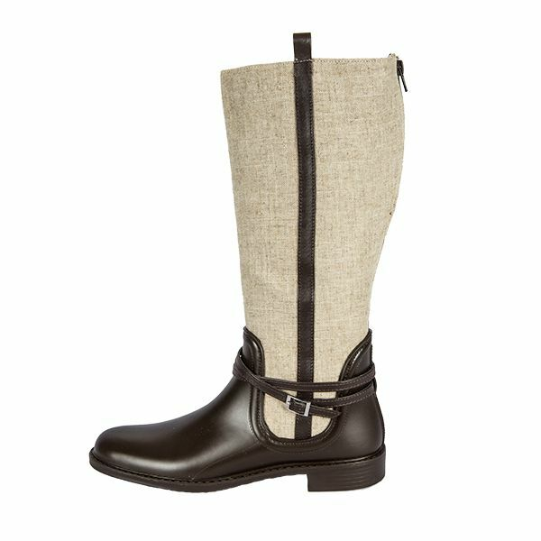 Dirty Laundry, Rizal, Brown & Beige Rain Boots  - Size 8 Brand new. Back zipper