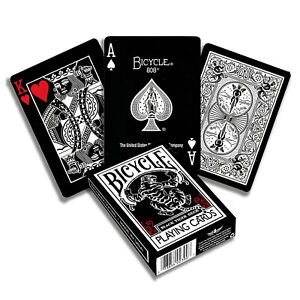 Remake Edition Deck BLACK Bicycle Black Rider Back Playing Cards Limited