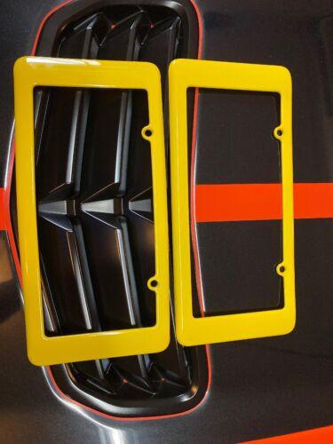 OEM GM Rear License Plate Frame  Velocity Yellow  For 05-13 Corvette C6