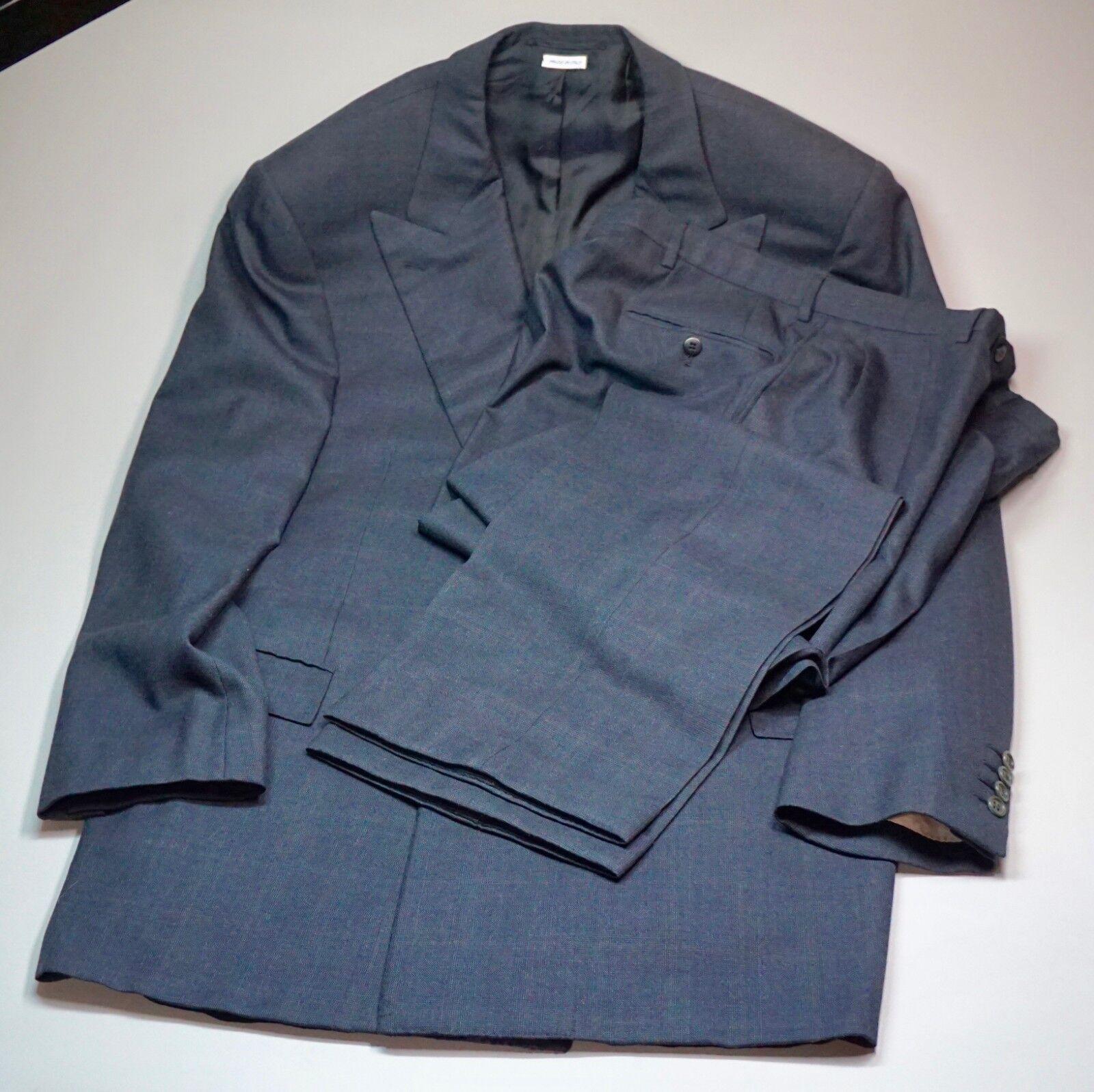 Brioni Super 150s Wool 2 Pc Suit Dark Blau Double Breasted 48L