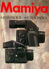 Mamiya 645 SV PACK II & SVX PACK II Prospekt brochure deutsch german - (0748)