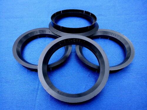 4 pezzi anelli di centraggio 76,0//65,1 mm NERO per CERCHI IN LEGA z26