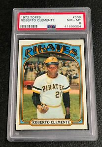 Pittsburgh-Pirates-Roberto-Clemente-1972-Topps-309-PSA-8-Near-Mint-Mint