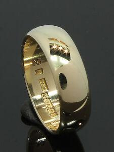 9-Carat-Yellow-Gold-Plain-Wedding-Ring-Size-R-1-2-6-6mm-6-9gm-9CT-80-18-279