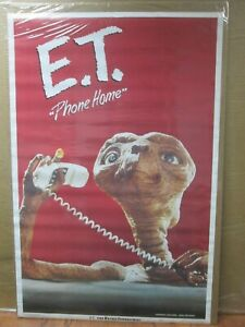 Vintage-Poster-E-T-The-Extra-Terrestrial-Movie-1982-Alien-Inv-G4233