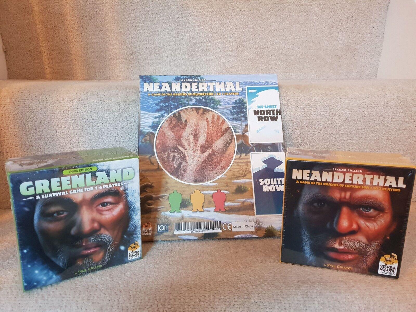 Neandertal & GROENLAND Board Games + double-face jeu de pédale de démarrage nouveau