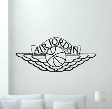 Air Jordan Logo Wall Decal Basketball Vinyl Sticker Art Poster Gym Decor 102nnn