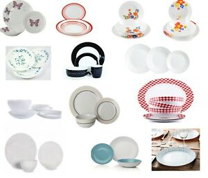 Dinner-Sets-Glass-Porcelain-or-Stoneware-Dinnerware-Dining-Plates