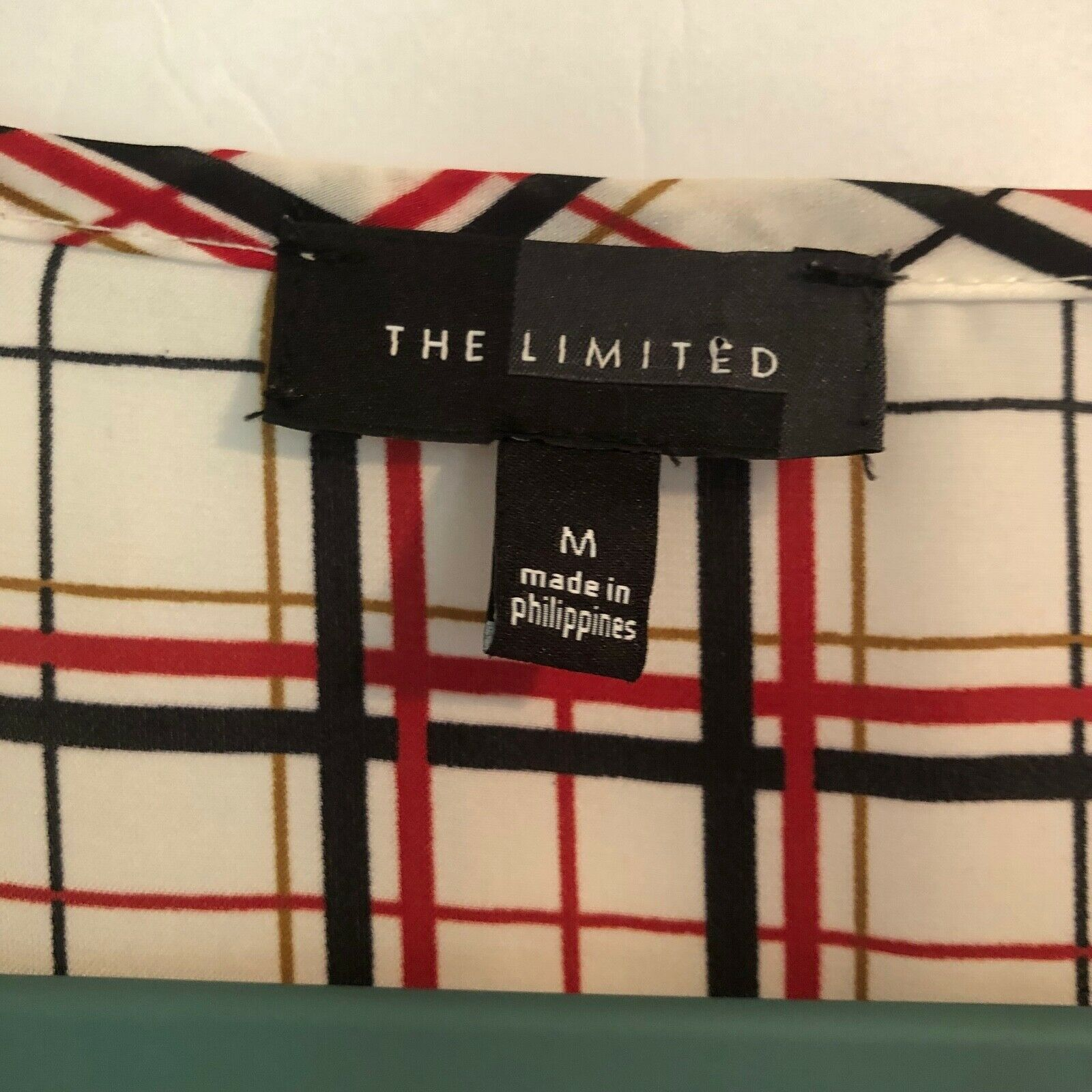 The Limited Blouse Red Black White and Gold Tarta… - image 2