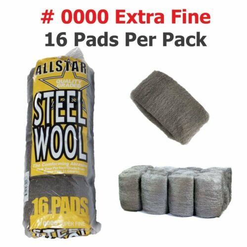 Steel Wool 16 padAll Star High-Quality Super Fine Grade #0000Final Finish
