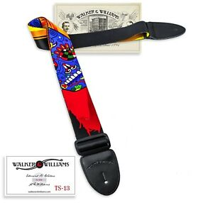 Walker-amp-Williams-TS-13-Day-Of-The-Dead-Sugar-Skull-Guitar-Strap