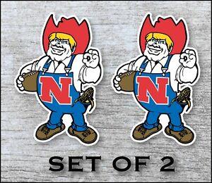 Nebraska Huskers Sticker Decal Vinyl SET OF 2 Cornhole Truck Car