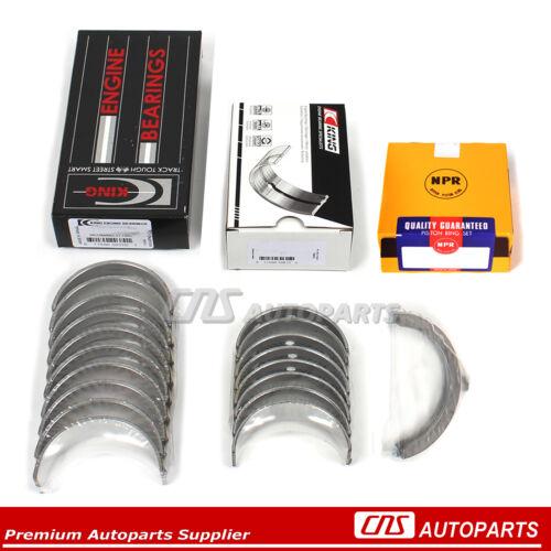 Fits 00-06 Nissan Sentra 1.8L QG18DE KING Main Rod Bearing Kit /& NPR Ring Set