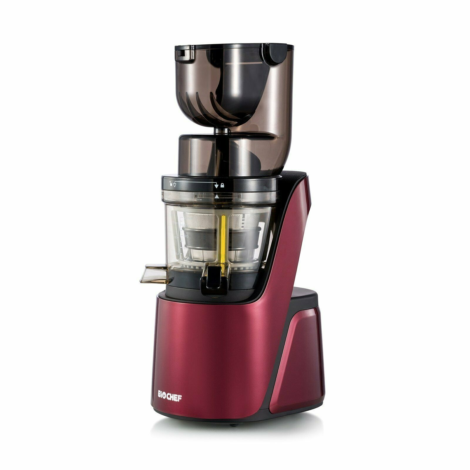BioChef Quantum Whole SFaible Juicer - grand Mouth Masticating Juicer - Burgundy