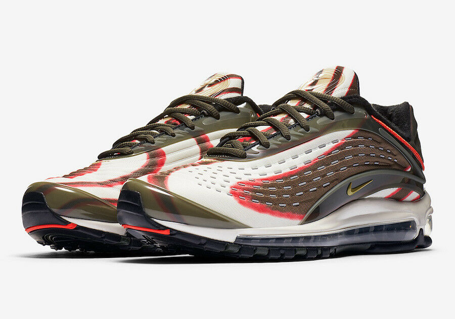 NIKE AIR MAX DELUXE SEQUOIA CAMPER GREEN  US MEN SZ 12