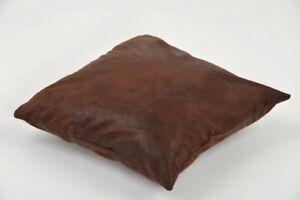 kissen bezug 40x40 cm kissen h lle wildleder optik braun mit rei verschluss ebay. Black Bedroom Furniture Sets. Home Design Ideas