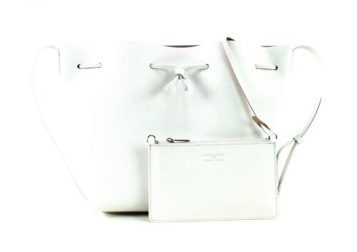 À Pur Lancaster Saffiano Poudre Bandoulière Bag Blanc Bucket Sac In Sqxapw5x1