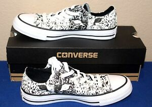 80aa070c204070 Converse All Star White Black Animal Print Ox Sneakers Shoes Women s ...