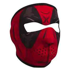 Deadpool Neoprene Ski Face Mask Snowboard Motorcycle Biker Warm Red Black New Ebay