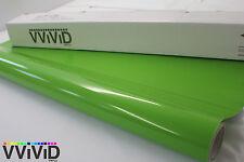 Vvivid 3Mil Gloss Lime Green Vinyl 5ft x 2ft Car Wrap Film Roll